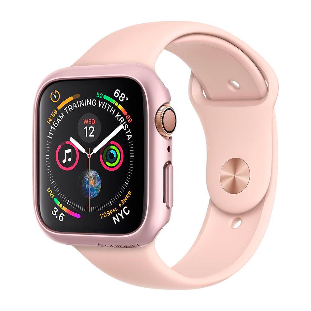 Купить Чехол Spigen Thin Fit Rose Gold для Apple Watch 40mm SE   6   5   4