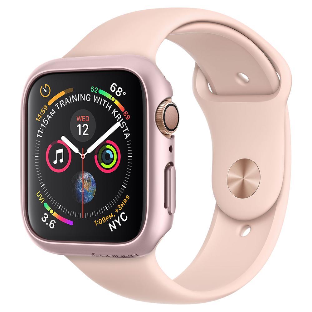 Купить Чехол Spigen Thin Fit Rose Gold для Apple Watch 44mm SE   6   5   4
