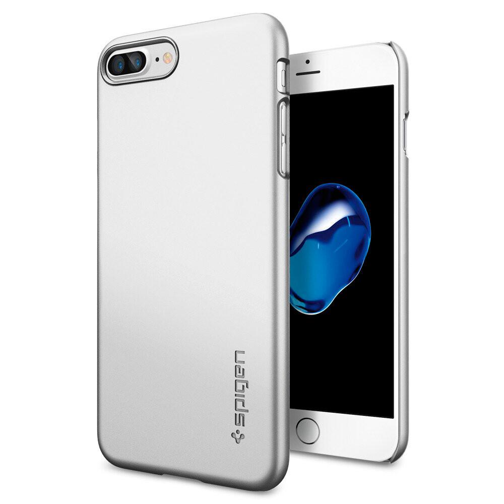 Чехол Spigen Thin Fit Satin Silver для iPhone 7 Plus/8 Plus