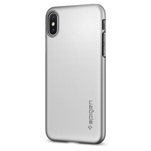 Купить Чехол Spigen Thin Fit Satin Silver для iPhone X/XS с магнитом