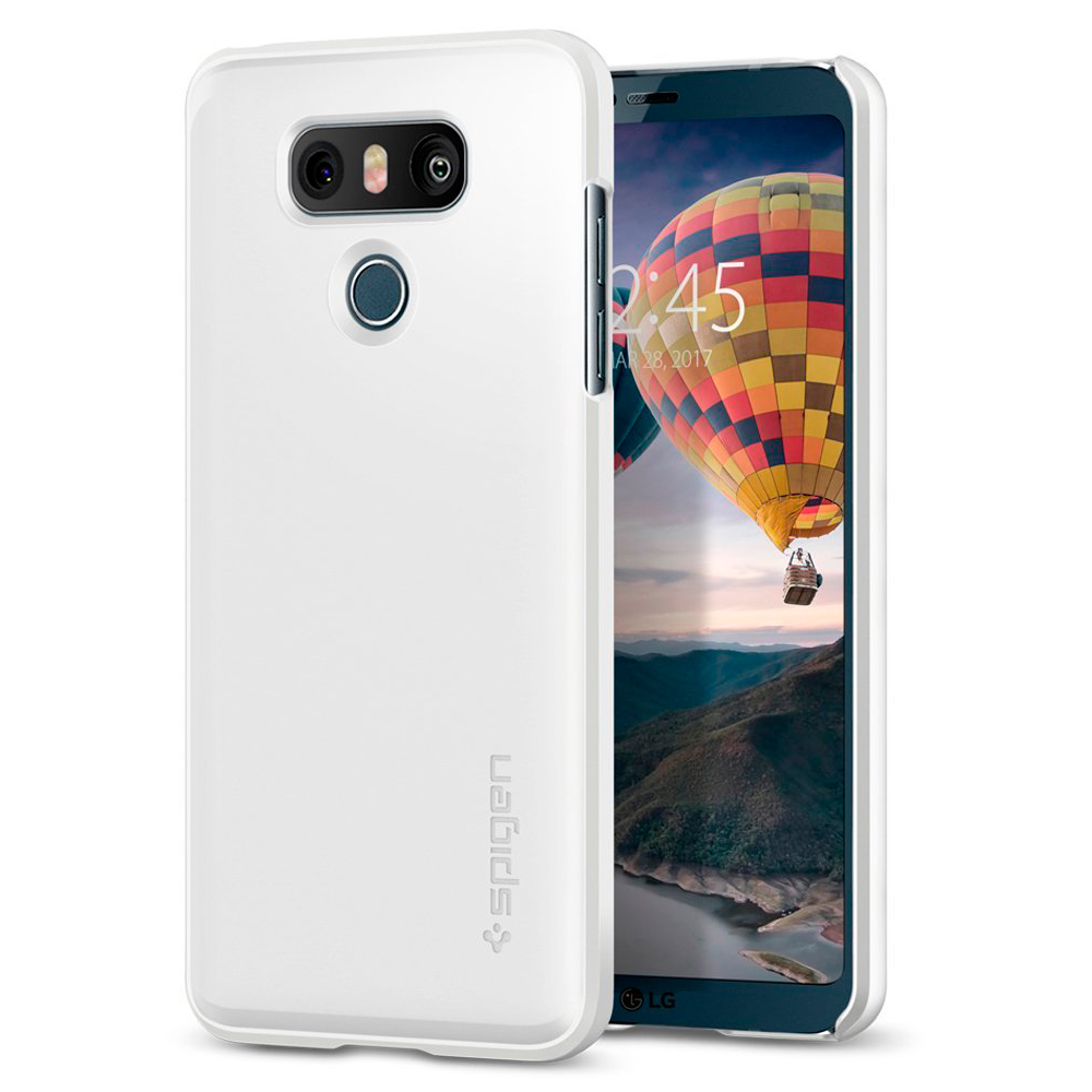 Купить Чехол Spigen Thin Fit Shimmery White для LG G6