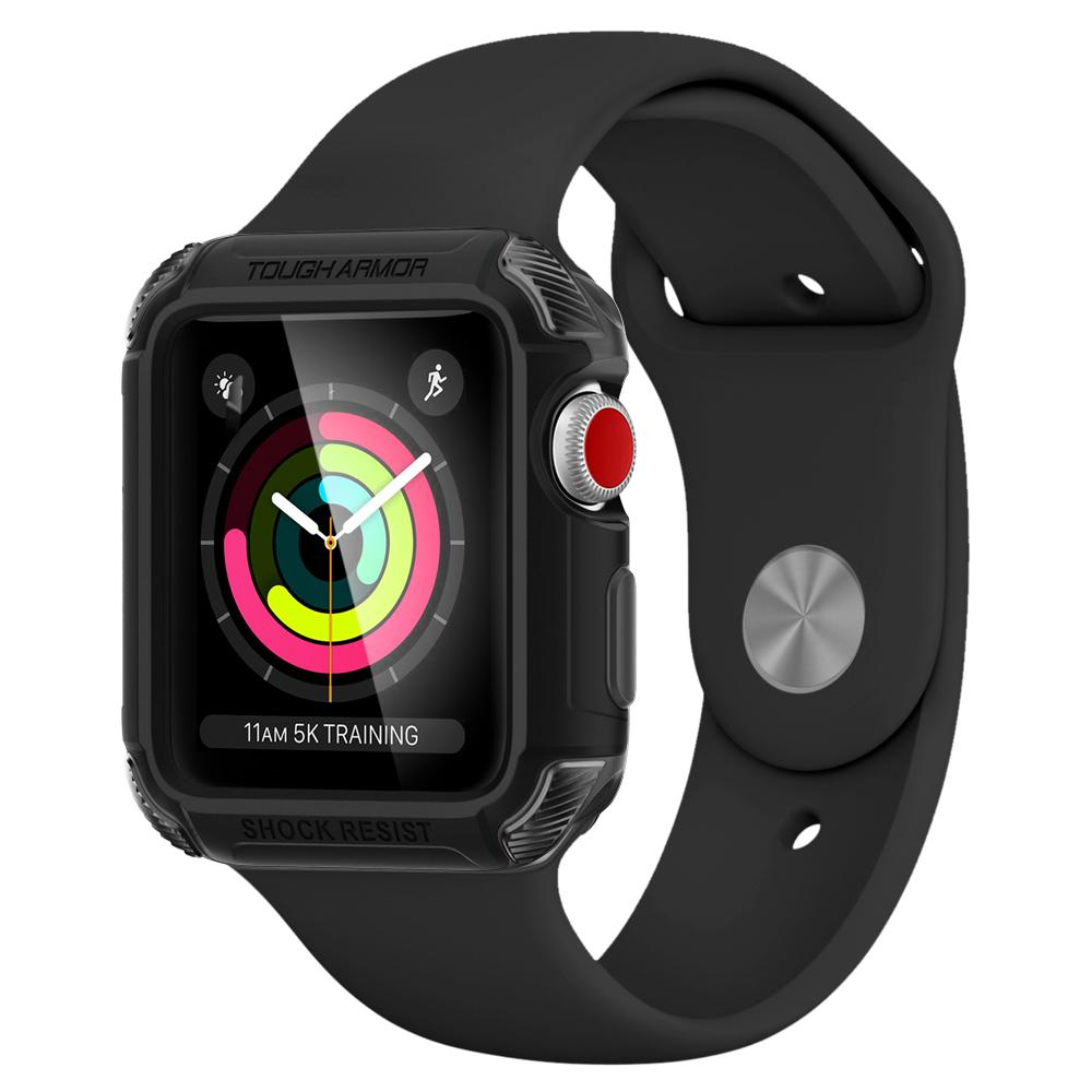 Купить Чехол Spigen Tough Armor 2 Matte Black для Apple Watch 38mm Series 3 | 2