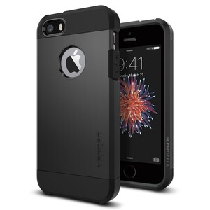 Купить Чехол Spigen Tough Armor Black для iPhone SE/5S/5