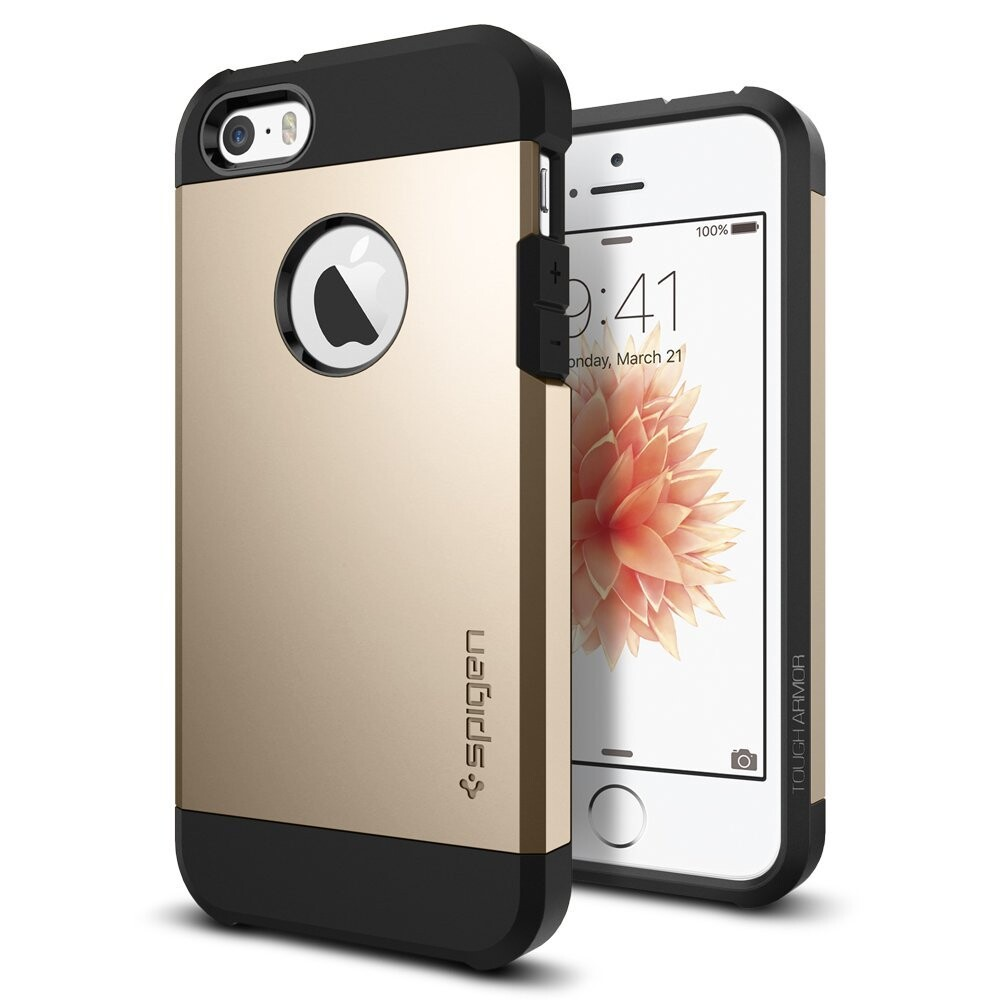 Чехол Spigen Tough Armor Champagne Gold для iPhone SE/5S/5