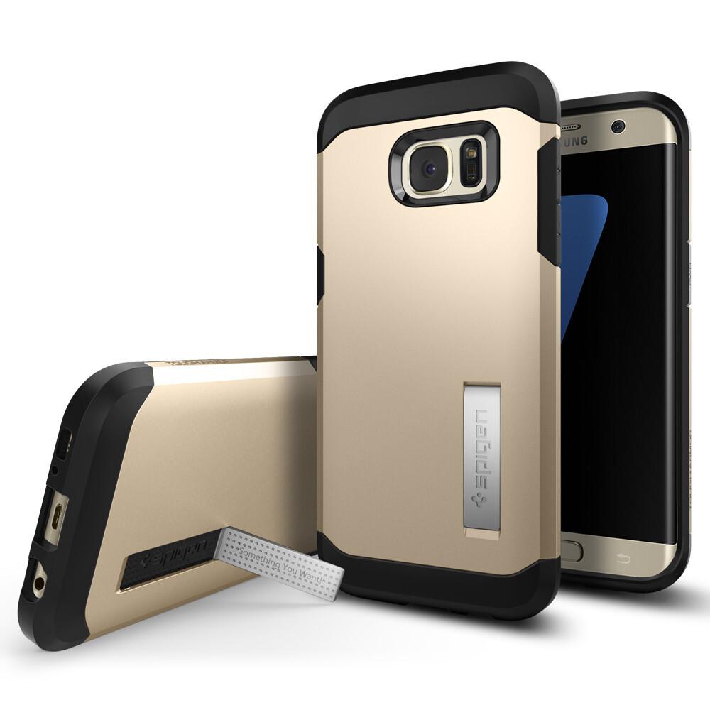 Чехол Spigen Tough Armor Champagne Gold для Samsung Galaxy S7 edge