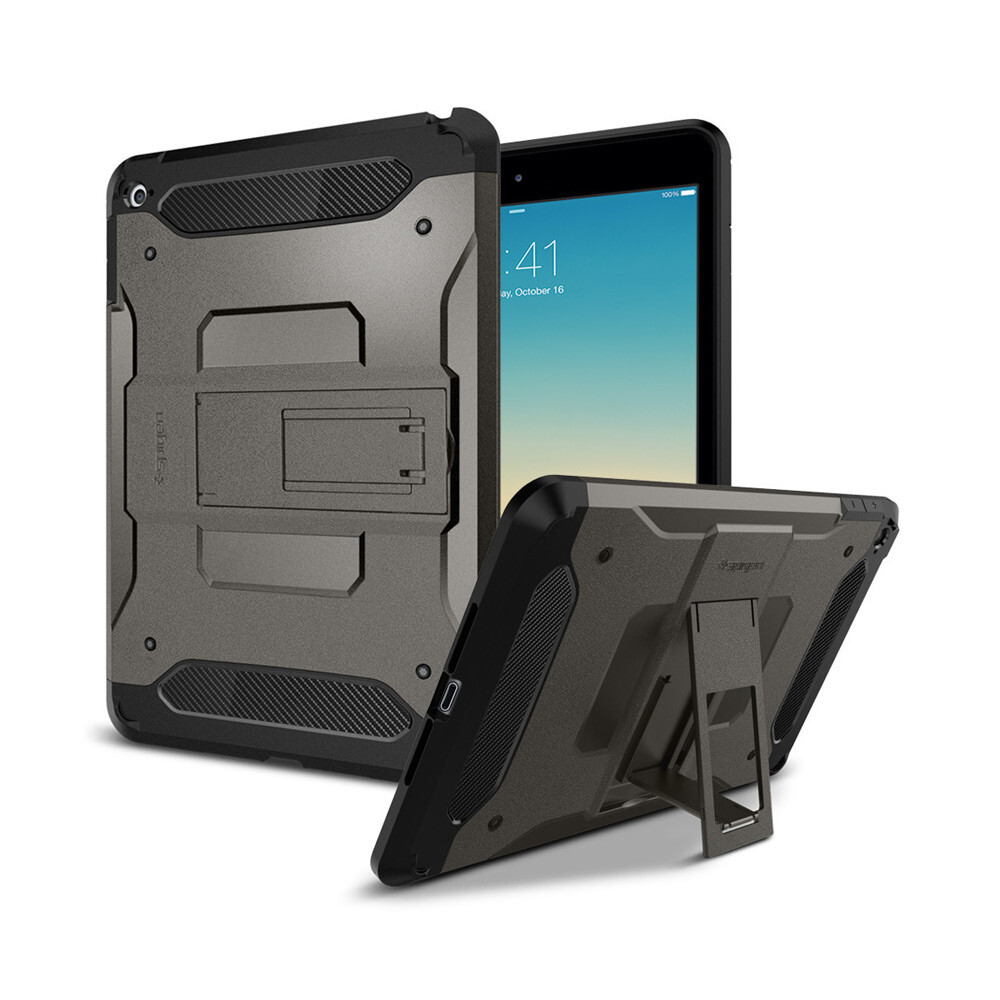 Чехол Spigen Tough Armor Gunmetal для iPad mini 4