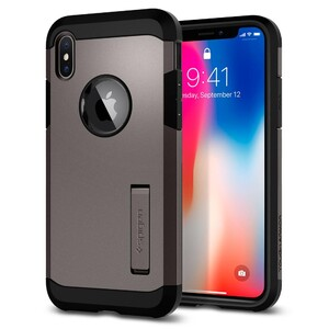 Купить Чехол Spigen Tough Armor Gunmetal для iPhone X/XS