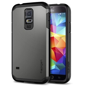 Купить Чехол Spigen Tough Armor Gunmetal для Samsung Galaxy S5