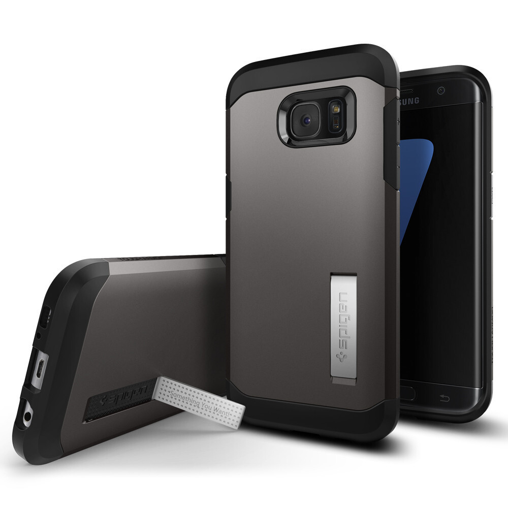 Чехол Spigen Tough Armor Gunmetal для Samsung Galaxy S7 edge