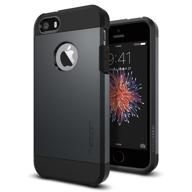 Чехол Spigen Tough Armor Metal Slate для iPhone SE/5S/5