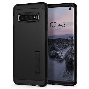 Купить Противоударный чехол Spigen Tough Armor Black Samsung Galaxy S10