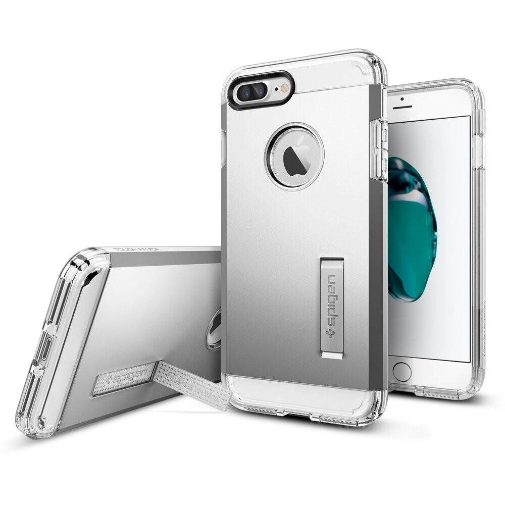 Чехол Spigen Tough Armor Satin Silver для iPhone 7 Plus/8 Plus