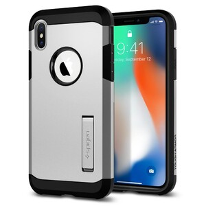 Купить Чехол Spigen Tough Armor Satin Silver для iPhone X/XS
