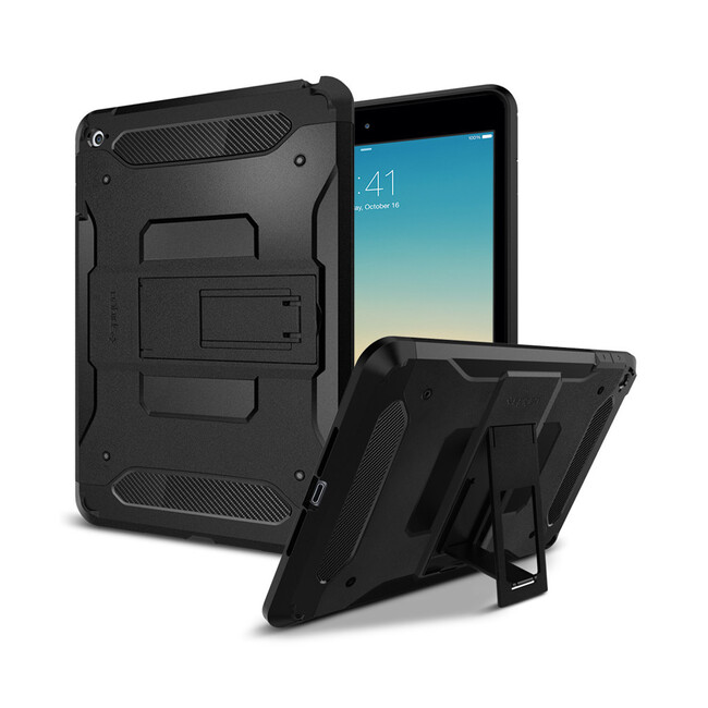 Чехол Spigen Tough Armor Smooth Black для iPad mini 4