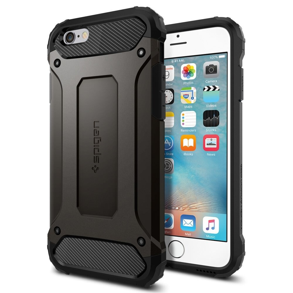 Чехол Spigen Tough Armor Tech Gunmetal для iPhone 6/6s