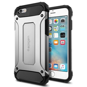 Купить Чехол Spigen Tough Armor Tech Satin Silver для iPhone 6/6s