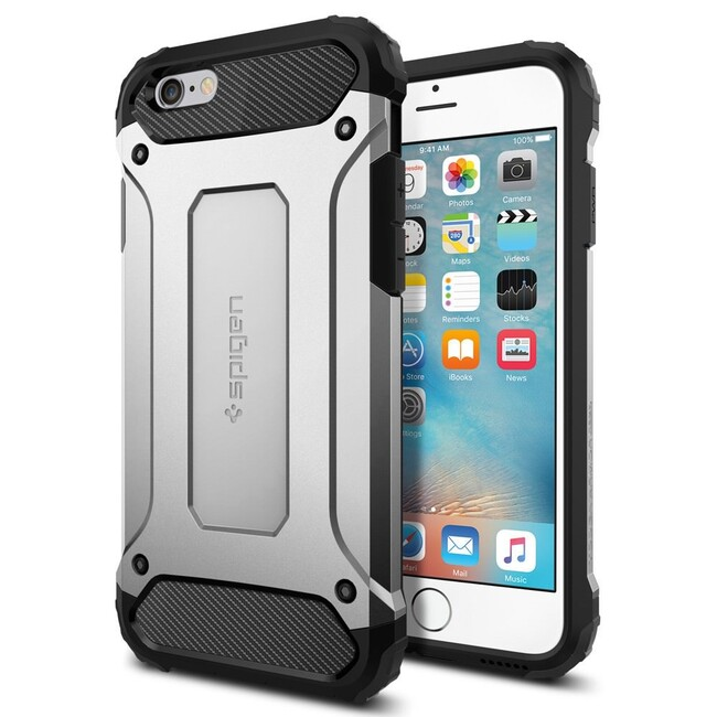 Чехол Spigen Tough Armor Tech Satin Silver для iPhone 6/6s