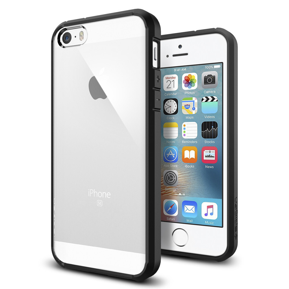 Чехол Spigen Ultra Hybrid Black для iPhone SE/5S/5