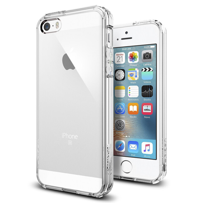 Чехол Spigen Ultra Hybrid Crystal Clear для iPhone SE/5S/5