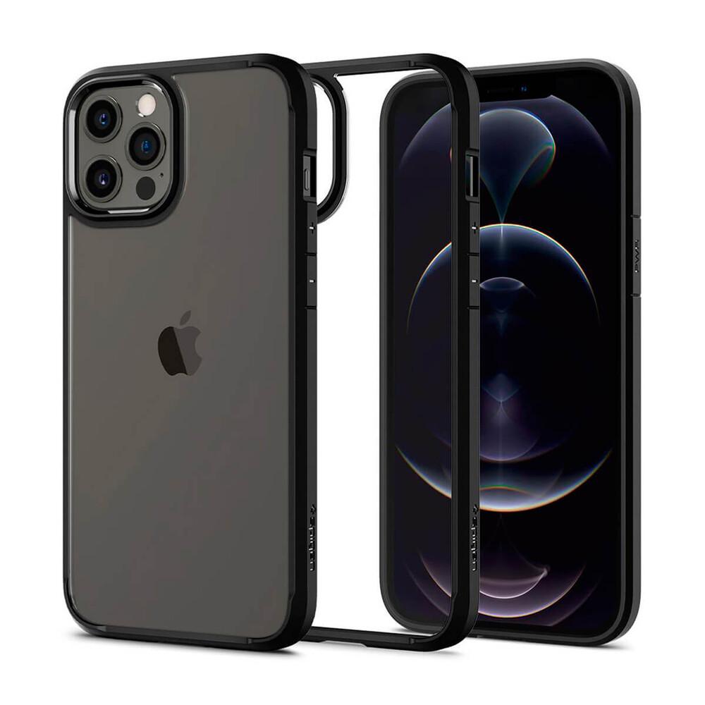 Купить Защитный чехол Spigen Ultra Hybrid Matte Black для iPhone 12 | iPhone 12 Pro