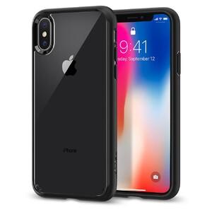Купить Чехол Spigen Ultra Hybrid Matte Black для iPhone X/XS