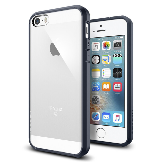 Чехол Spigen Ultra Hybrid Metal Slate для iPhone SE/5S/5