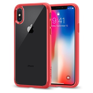 Купить Чехол Spigen Ultra Hybrid Red для iPhone X/XS