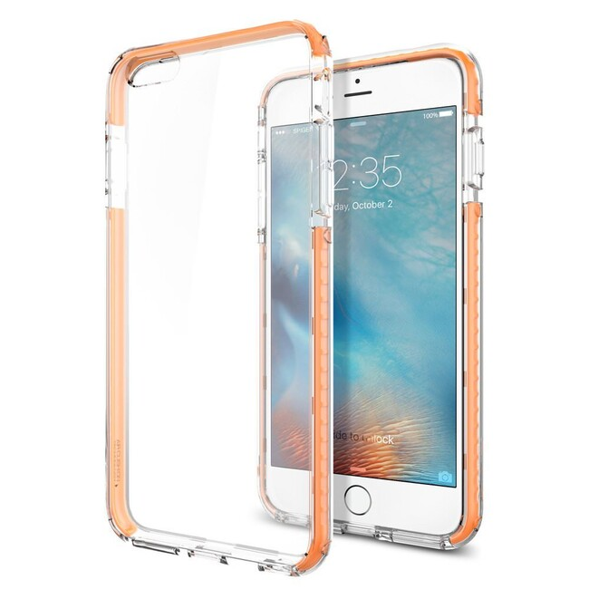 Чехол Spigen Ultra Hybrid TECH Crystal Orange для iPhone 6/6s Plus