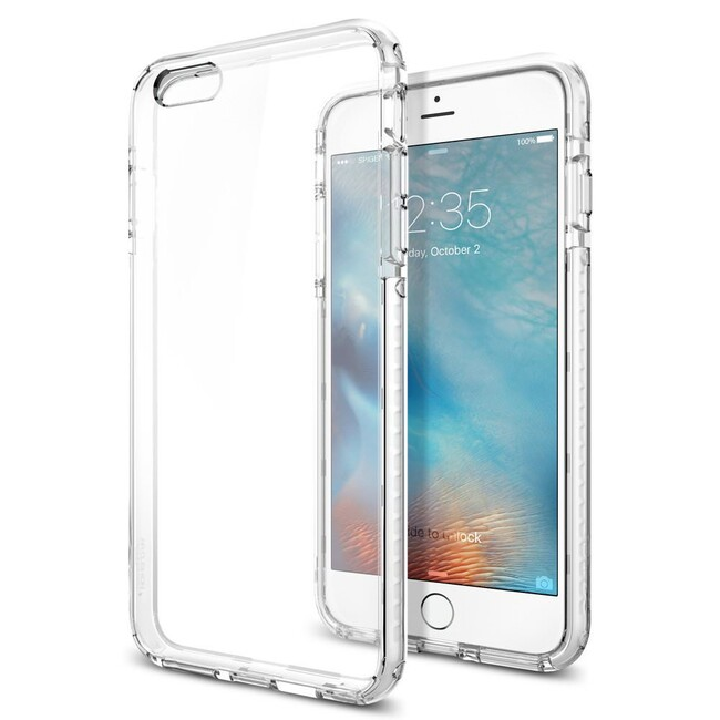 Чехол Spigen Ultra Hybrid TECH Crystal White для iPhone 6/6s Plus