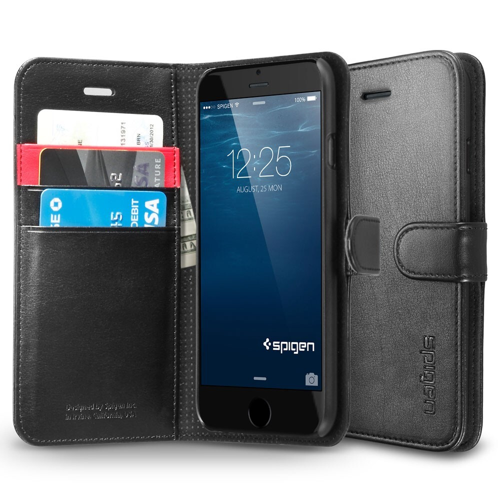 Чехол Spigen Wallet S Black для iPhone 6/6s