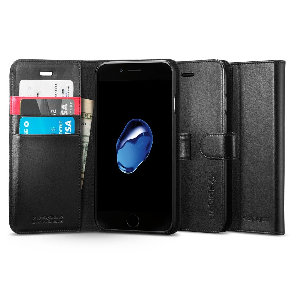 Чехол Spigen Wallet S Black для iPhone 7