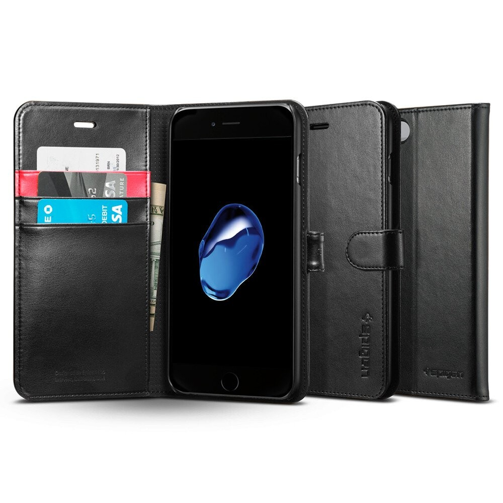 Чехол Spigen Wallet S Black для iPhone 7 Plus/8 Plus