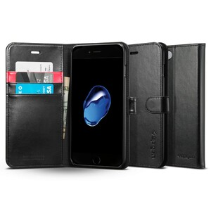 Купить Чехол Spigen Wallet S Black для iPhone 7 Plus