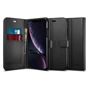 Купить Чехол Spigen Wallet S Black для iPhone XR