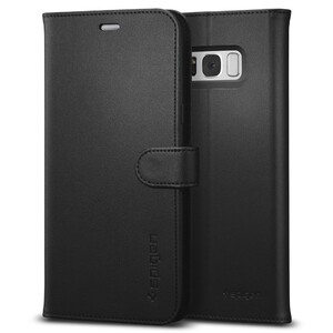Купить Чехол Spigen Wallet S Black для Samsung Galaxy S8 Plus