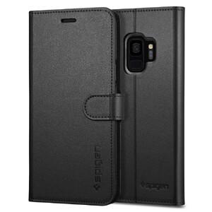 Купить Кожаный чехол-книжка Spigen Wallet S Black для Samsung Galaxy S9