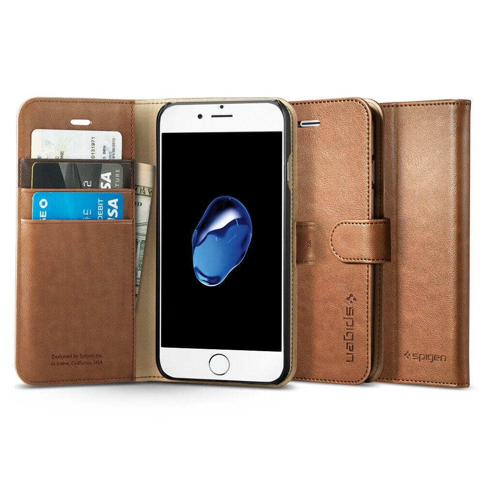 Чехол Spigen Wallet S Brown для iPhone 7/8