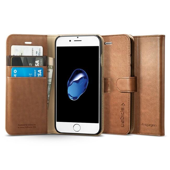 Чехол Spigen Wallet S Brown для iPhone 7