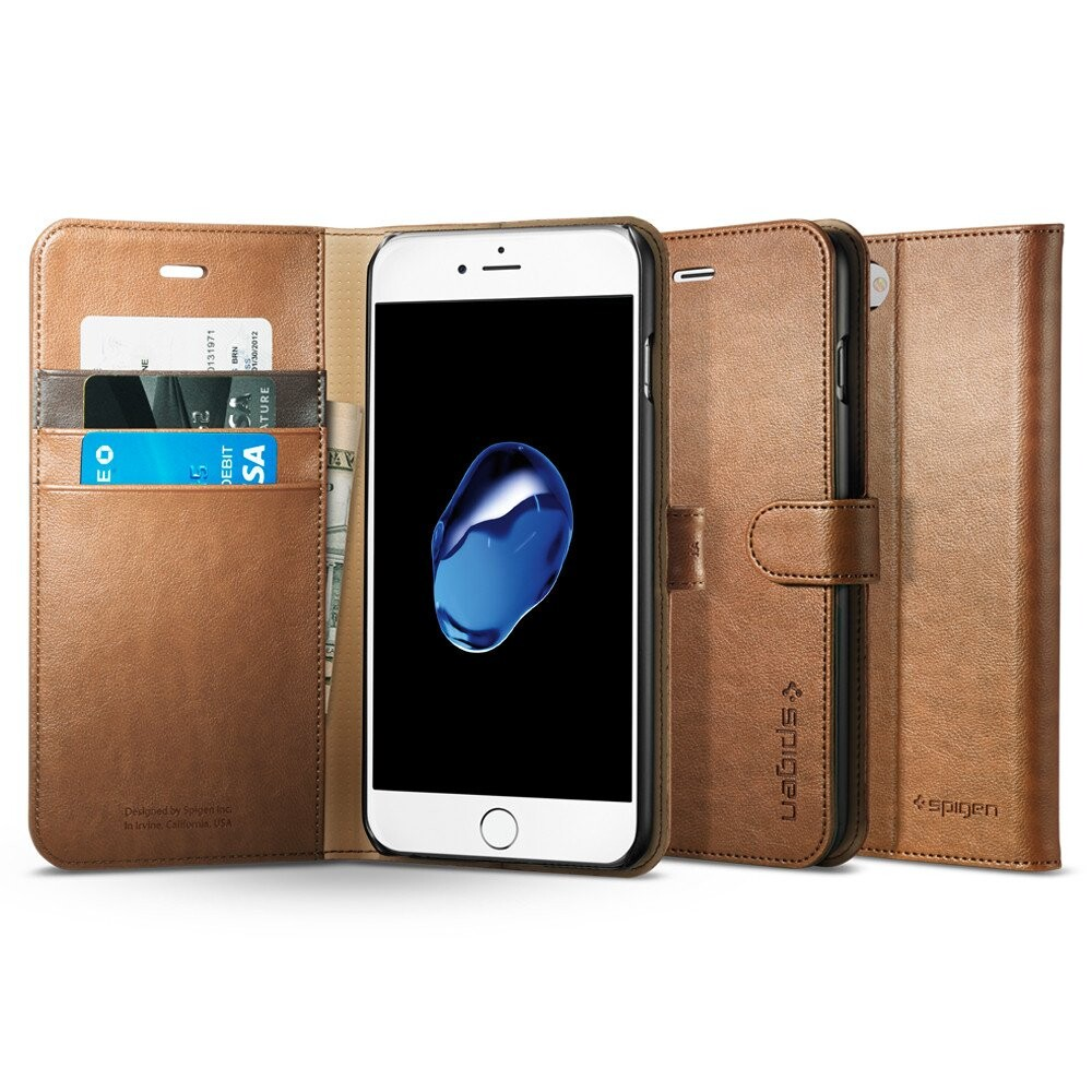 Чехол Spigen Wallet S Brown для iPhone 7 Plus/8 Plus