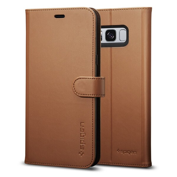 Чехол Spigen Wallet S Brown для Samsung Galaxy S8