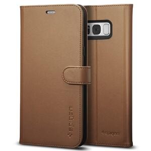 Купить Чехол Spigen Wallet S Brown для Samsung Galaxy S8 Plus