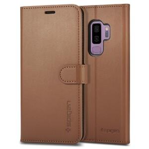 Купить Кожаный чехол-книжка Spigen Wallet S Coffee Brown для Samsung Galaxy S9 Plus