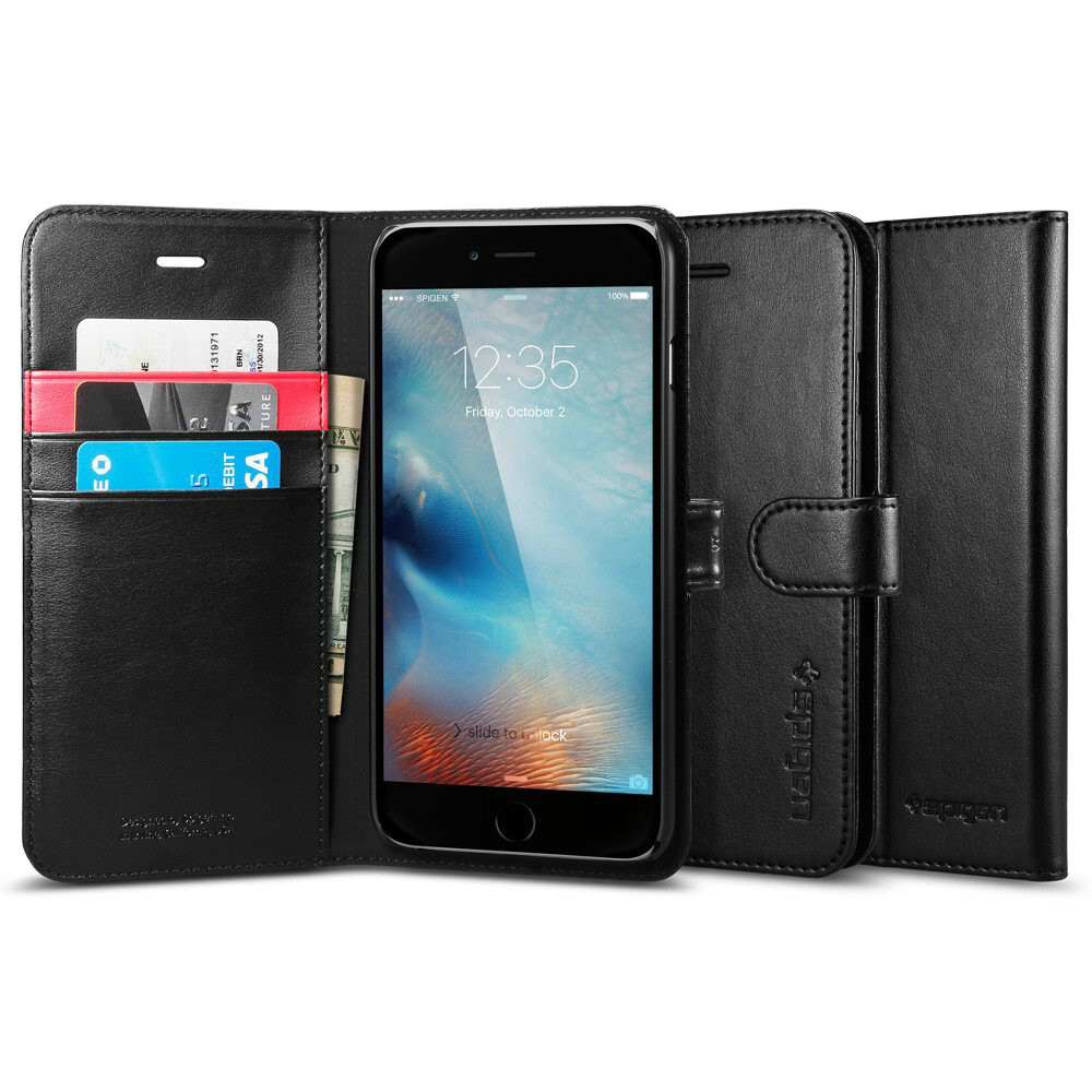 Чехол Spigen Wallet S Black для iPhone 6 Plus/6s Plus