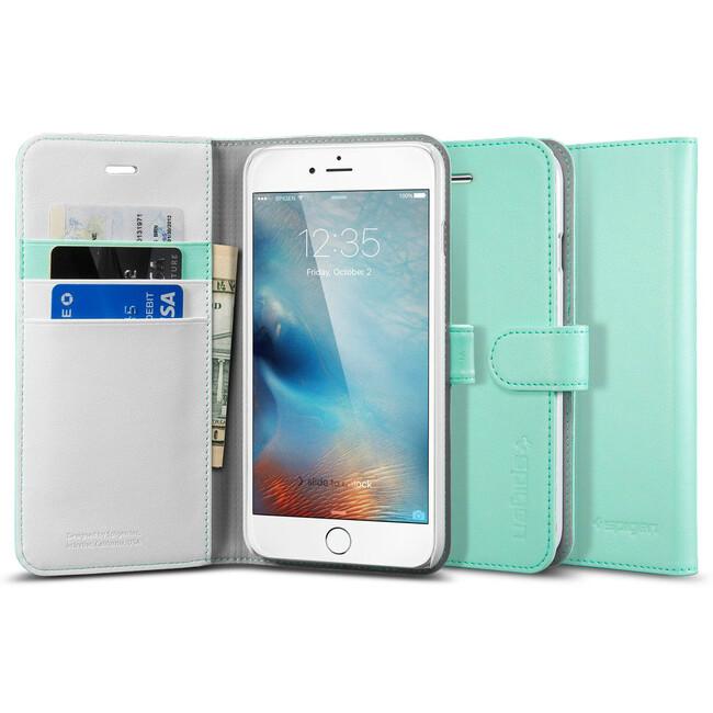 Чехол Spigen Wallet S Mint для iPhone 6/6s Plus
