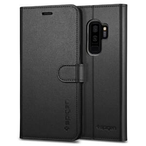 Купить Кожаный чехол-книжка Spigen Wallet S Black для Samsung Galaxy S9 Plus