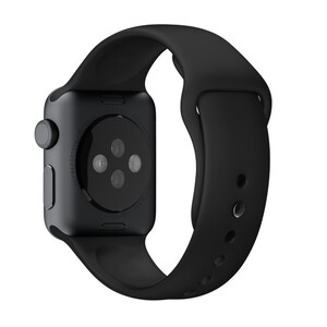Купить Ремешок Apple 38mm Black Sport Band with Space Black Steel Pin (MJ4F2) для Apple Watch Series 1/2