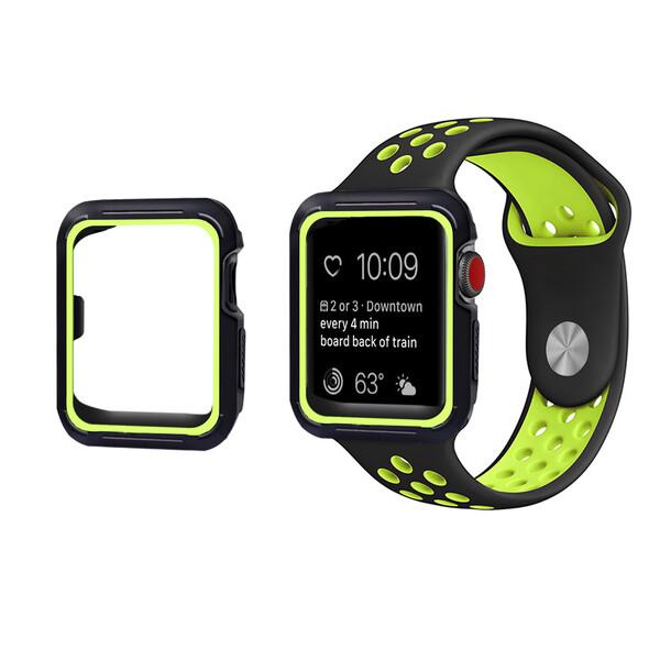 Ремешок + чехол iLoungeMax Sport Band Black | Volt для Apple Watch 38mm Series 3 | 2 | 1