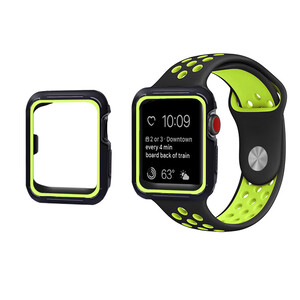 Купить Ремешок + чехол oneLounge Sport Band Black | Volt для Apple Watch 42mm Series 1 | 2 | 3
