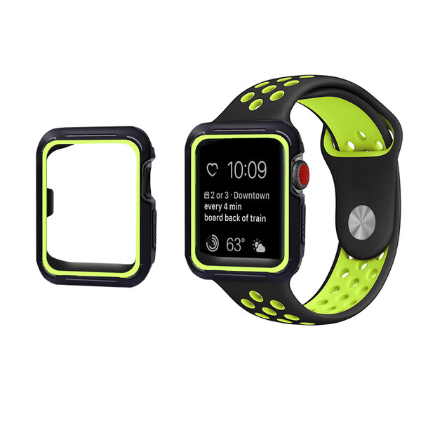 Ремешок + чехол iLoungeMax Sport Band Black | Volt для Apple Watch 42mm Series 1 | 2 | 3