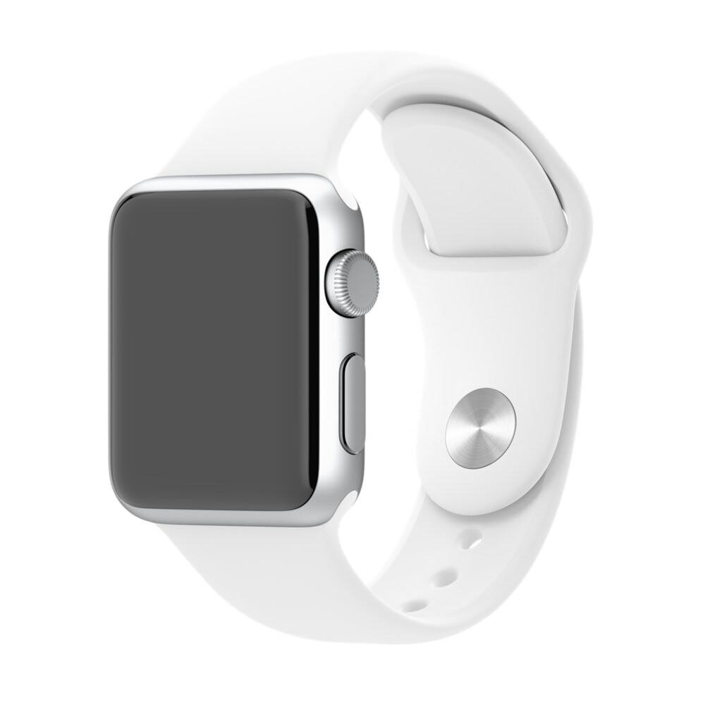 Ремешок Apple 38mm White Sport Band (MJ4E2) S/M&M/L для Apple Watch Series 1/2/3